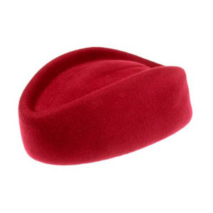 Stewardess Pillbox Hat Red