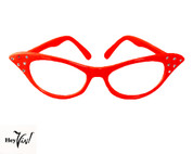 50s Red Cat Eye Glasses at Hey Viv !