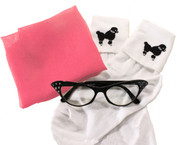 Sock Hop Accessory Combo - Shop and Save on scarf, cat eye glasses and poodle socks.