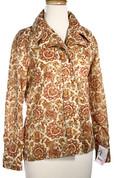 Pointy Paisley Vintage Blouse w/Cuffs - Sz L