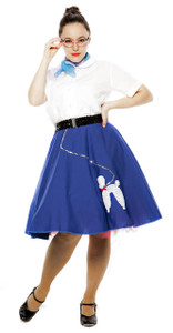 Hey Viv ! Blue Cotton Poodle Skirt