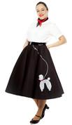 Hey Viv ! 50s Style Felt Poodle Skirt