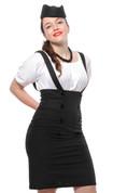 Hey Viv ! Suspender Pencil Skirt in Black