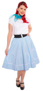 Circle Swing Skirt - Retro Ric Rac Loops Trim  - S to XL