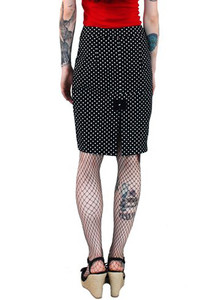Hey Viv ! Black and White Polka Dot Pencil Skirt