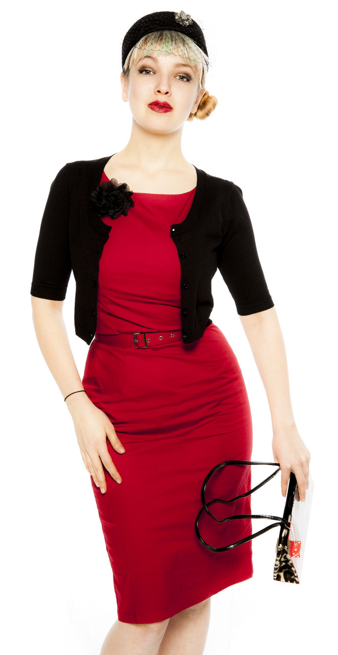 Red Robin Pencil Dress from Hey Viv ! Retro Clothing