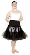 "Black Crinoline (Plus / XL Waist 34"" - 42"")"