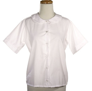 Hey Viv ! Retro 50s Peter Pan Collar Blouse in White