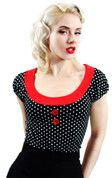 Rockabilly Fitted Polka Dot Top