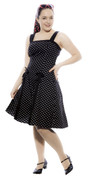 50s Style Sundress - Rockabilly Baby w Black Polka Dot