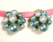 Hey Viv ! Vintage Retro Bead Button Earrings