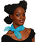 Sheer Turquoise Chiffon Scarf - 50s Fashion