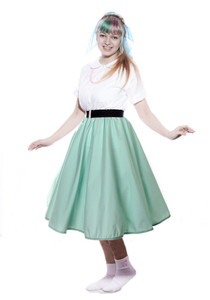 Hey Viv ! Peggy Sue Circle Skirt in Mint Green