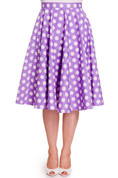 Lavender Polka Dot Circle Skirt - front