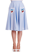 Jessie Gingham Circle Skirt - front