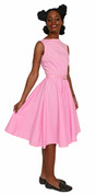 Pink Party Dress - Full Skirt Vintage Style - Sz S to XL