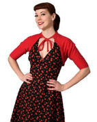 Hey Viv ! Betty Bolero Top in Red by Heart of Haute