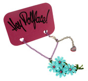 Hey Dollface! Daisy Bouquet Necklace -- Turquoise Blue
