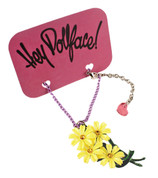 Staff Pick ! - Hey Dollface! Daisy Bouquet Necklace -- Light Yellow