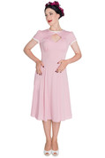 Hey Viv ! Nell Tea Dress in Pink by Hell Bunny