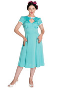Nell Tea Dress in Aqua Blue by Hell Bunny