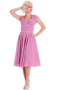 Hey Viv ! Lazy River Dress in Pink by Hell Bunny