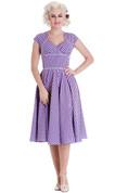 Hey Viv ! Lazy River Dress in Lavender Purple by Hell Bunny
