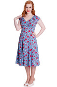 Hey Viv ! Sheila Dress in Blue by Hell Bunny