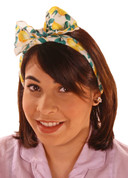 New ! Lemon Print Headband Scarf