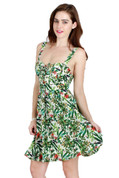 Tropical Fit & Flare Retro Sundress