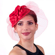 Felt Fascinator with Flower and Veil