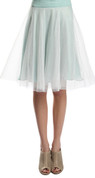 Tulle Skirt w/ Mint Green Satin Waist (Front)