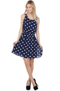 Heart Dress - Navy Blue