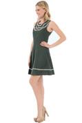 Polka Dot Blossom Dress - Green  - by Doe & Rae
