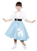 Hey Viv ! blue child size poodle skirt
