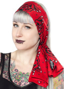 Hey Viv ! Roses Red Head Wrap Scarf by Sourpuss