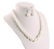 Hey Viv Pearl Necklace Set with Matching Earrings