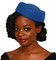 Royal Blue Oval Pillbox Hat
