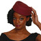 Burgundy Wine Oval Pillbox Hat