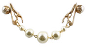 Hey Viv ! Sweater Guard with Pearl Clip & Large Pearl Bead Chain
