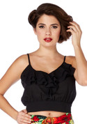 Voodoo Vixen Cami Li Top in Black - Hey Viv !