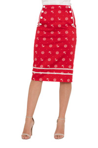 Voodoo Vixen Valerie Nautical Skirt in Red - Hey Viv !