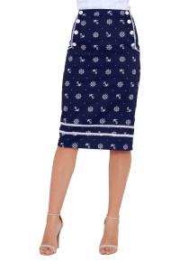 Voodoo Vixen Valerie Nautical Skirt in Blue - Hey Viv !