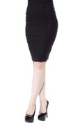 Sourpuss Bombshell Pencil Skirt in Black - Hey Viv !