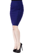Sourpuss Bombshell Pencil Skirt in Blue - Hey Viv !