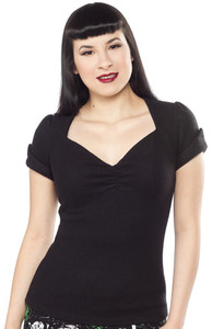 Sourpuss Sugar Sweater Top in Black - Hey Viv !