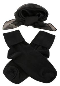 Hey Viv ! Socks & Scarf Set in Black