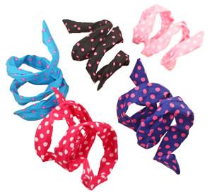 Retro Polka Dot Headband Scarf in Fun Colors