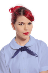 Hey Viv ! Retro 50s Peter Pan Collar Blouse in Light Blue