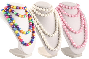 Hey Viv ! Retro 50s Pop Beads Variety Fun Pack - One bag each Rainbow Pink & White